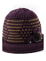 Women's Knitwear Sweater Ski Hat,Hat Print Winter Floral Mixed Color
