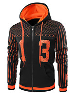 Men's Daily Sports Hoodie Print Letter Hooded Micro-elastic Cotton Long Sleeve Winter Fall