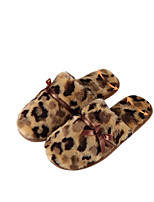Women's Shoes Fleece Fall Winter Comfort Slippers & Flip-Flops Flat Heel Round Toe For Casual Yellow Black White