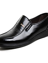Men's Shoes Elastic Satin Leatherette Spring Fall Comfort Loafers & Slip-Ons For Casual Black