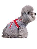 Chien Pull Vêtements pour Chien Décontracté / Quotidien Géométrique Costume Pour les animaux domestiques