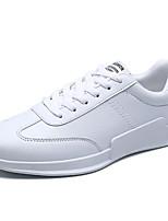 Для мужчин обувь Резина Весна Осень Удобная обувь Кеды Шнуровка Назначение Белый Черно-белый Wit En Groen