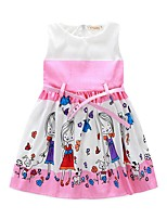 Girl's Casual/Daily Cartoon Dress,Polyester Summer Sleeveless