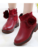 Girls' Shoes Leatherette Fall Winter Comfort Fashion Boots Boots For Casual Red Light Yellow Black