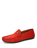 Men's Shoes PU Spring Fall Moccasin Loafers & Slip-Ons For Casual Blue Orange Black