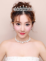 Women's Rhinestone Wedding Evening Party Rhinestone Alloy Hair Jewelry Necklace Earrings
