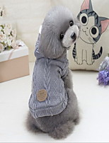 Dog Coat Sweater Dog Clothes Casual/Daily Solid Gray Red Blue