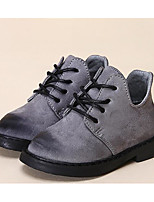 Girls' Shoes Leatherette Fall Winter Comfort Snow Boots Boots For Casual Red Gray Black