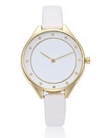 Damen Armbanduhr Armbanduhren für den Alltag Chinesisch Quartz PU Band Schwarz Weiß