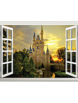 Architecture Landscape 3D Wall Stickers 3D Wall Stickers 3DVinyl Material Home Decoration Wall Decal