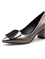 Feminino Sapatos Microfibra Primavera Outono Plataforma Básica Saltos Para Casual Preto Champanhe