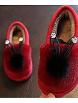 Fille Chaussures Fourrure Automne Hiver Confort Chaussons & Tongs Pour Décontracté Noir Gris Rose Bourgogne