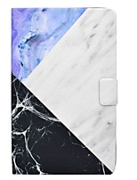 Marble Pattern Card Holder with Stand Flip Magnetic PU Leather Case for Samsung Galaxy Tab E T560 9.6 inch Tablet PC