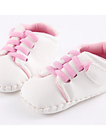 Girls' Shoes PU Fall Winter Comfort First Walkers Sneakers For Casual Blushing Pink Blue Brown