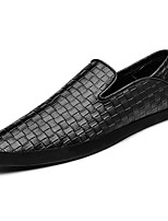 Men's Shoes PU Spring Fall Comfort Loafers & Slip-Ons For Casual Brown Black