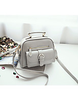 Women Bags PU Shoulder Bag Zipper for Casual All Seasons White Black Gray