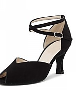Women's Latin Artificial Leather Heel Performance Black