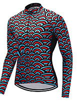 FUALRNY® Cycling Jersey Men's Long Sleeves Bike Jersey Quick Dry Coolmax LYCRA® Autumn/Fall Spring Mountain Cycling Road Cycling Cycling