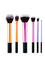 1set Makeup Brush Set Synthetic Hair Normal Anti-Friction Aluminum Face