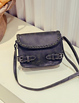 Women Bags PU Shoulder Bag Zipper for Casual All Seasons Black Gray Wine