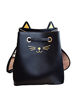 Women Bags All Seasons PU Shoulder Bag Appliques for Shopping Casual Black
