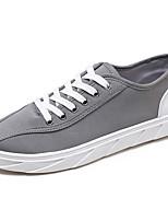 Для мужчин обувь Полотно Весна Осень Удобная обувь Кеды Назначение Повседневные Белый Черный Серый