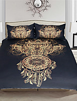 Duvet Cover Sets Luxury 3 Piece Reactive Print 3pcs (1 Duvet Cover, 2 Shams)
