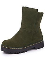 Women's Shoes Suede Fall Snow Boots Boots Flat Heel Round Toe For Casual Green Brown Black
