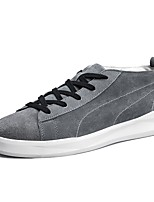 Men's Shoes PU Spring Fall Light Soles Sneakers Lace-up For Casual Almond Gray Black
