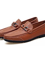Men's Shoes Real Leather PU Cowhide Spring Fall Moccasin Comfort Loafers & Slip-Ons For Casual Blue Brown Black