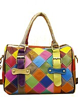 Women Bags All Seasons Cowhide Tote Zipper for Event/Party Casual Rainbow