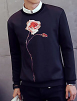 Men's Going out Sweatshirt 3D Print Round Neck Micro-elastic Others Long Sleeve Spring Fall