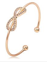 Women's Cuff Bracelet Fashion Simple Style Zircon Alloy Jewelry For Wedding Office & Career
