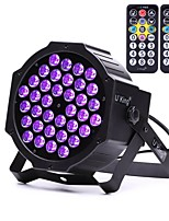 U'King ZQ-B193B-YK2 36*1W LEDs Purple Color Auto DMX Sound Activated Par Stage Lighting with 1 Remote Control for Disco Party Club KTV Wedding