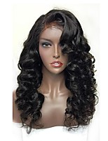 Women Human Hair Lace Wig Burmese Human Hair Glueless Lace Front 150% Density With Baby Hair Loose Wave Wig Black Short Medium Length Long