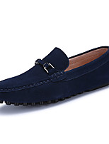 Men's Shoes PU Spring Fall Moccasin Loafers & Slip-Ons For Casual Black Gray Blue