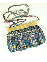 Women Bags Polyester Shoulder Bag Zipper for Casual Summer Blue Gray Light Green