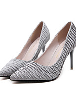 Women's Shoes PU Spring Fall Comfort Novelty Heels Stiletto Heel Pointed Toe For Wedding Party & Evening Almond Gray Black