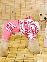 Dog Coat Dog Clothes Leisure Color Block Red Blue Costume For Pets