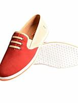 Homme Chaussures Cuir Printemps Automne Confort Mocassins et Chaussons+D6148 Pour Décontracté Marron Rouge