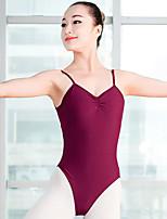 Danza classica Per donna Esibizione Elastene Senza maniche Naturale Calzamaglia