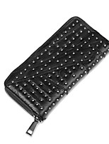 Women Bags PU Wallet Zipper for Shopping Casual All Seasons Black