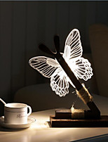 1 Pc LED Night Light Butterfly Shape AC220V Warm White 0.5W