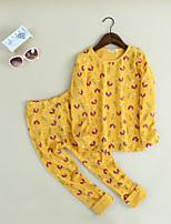 Ensembles Fille Motif Animal Coton Printemps Automne Ensemble de Vêtements