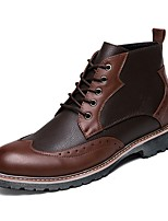 cheap -Men's Shoes Synthetic Microfiber PU Spring Fall Formal Shoes Comfort Bootie Boots Booties/Ankle Boots for Casual Party & Evening Brown
