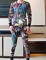 Pyjama Coton Polyester Spandex Homme