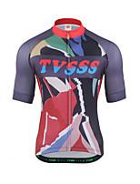 Cycling Jersey Men's Short Sleeves Bike Sweatshirt Top Breathability Terylene Characters Summer Running/Jogging Mountain Cycling