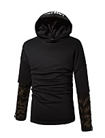 Men's Daily Sports Casual Active Street chic Hoodie Solid Print Hooded Hoodies Micro-elastic Cotton Rayon Long Sleeve Winter Fall