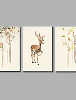 Hand-Painted Animal Horizontal Panoramic,Artistic Nature Inspired Rustic Birthday Modern/Contemporary Office/Business Cool Christmas New