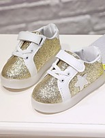 Girls' Shoes Leatherette Spring Fall Comfort Sneakers For Casual Blushing Pink Silver Gold